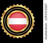 gold emblem with austria flag.... | Shutterstock .eps vector #1291513267