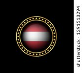 gold emblem with austria flag.... | Shutterstock .eps vector #1291513294