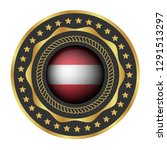 gold emblem with austria flag.... | Shutterstock .eps vector #1291513297