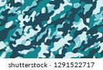 camouflage background. seamless ... | Shutterstock .eps vector #1291522717