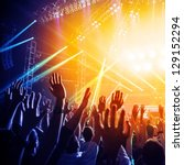photo of many people enjoying... | Shutterstock . vector #129152294