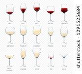 wine glass vector winery... | Shutterstock .eps vector #1291525684