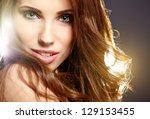beautiful woman portrait | Shutterstock . vector #129153455
