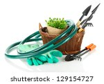 garden tools isolated on white | Shutterstock . vector #129154727