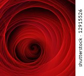 Circle shaped red abstract structure - stock photo