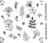 vector hand drawn textures.... | Shutterstock .eps vector #1291553494