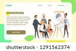 freelance team meeting at... | Shutterstock .eps vector #1291562374