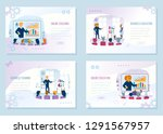 online business coaching ... | Shutterstock .eps vector #1291567957