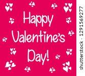 valentine s day lettering. hand ... | Shutterstock .eps vector #1291569277