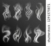 realistic smoke. white food... | Shutterstock .eps vector #1291575871