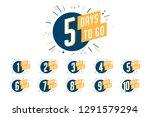 number of days left to go ... | Shutterstock .eps vector #1291579294