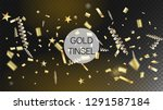 modern tinsel confetti isolated ...   Shutterstock .eps vector #1291587184