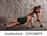 boot camp training instructor... | Shutterstock . vector #129158879