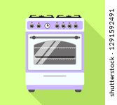gas stove icon. flat... | Shutterstock .eps vector #1291592491
