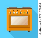 electric stove icon. flat... | Shutterstock .eps vector #1291592494