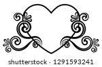 heart decorated with floral... | Shutterstock .eps vector #1291593241