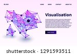 triangular point visualisation... | Shutterstock .eps vector #1291593511