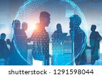 silhouettes of business people... | Shutterstock . vector #1291598044