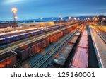 cargo train trasportation