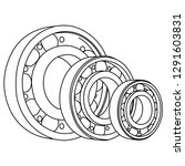 roller  ball  spare parts   Shutterstock .eps vector #1291603831