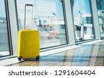 isolate traveler tourist yellow ... | Shutterstock . vector #1291604404
