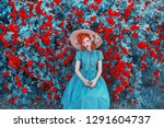valentines day roses background.... | Shutterstock . vector #1291604737