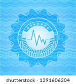 electrocardiogram icon inside... | Shutterstock .eps vector #1291606204