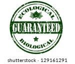 ecological grunge rubber stamp... | Shutterstock .eps vector #129161291