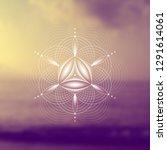 vector template  spiritual... | Shutterstock .eps vector #1291614061