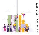 vector illustsration growth... | Shutterstock .eps vector #1291614277