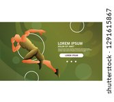 the runner athlete landing page ... | Shutterstock .eps vector #1291615867
