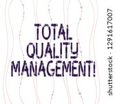 Text sign showing Total Quality Management. Conceptual photo constant organizational improvement process Vertical Curved String Free Flow with Beads Seamless Repeat Pattern photo.