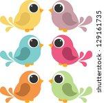 Cute Birds Set
