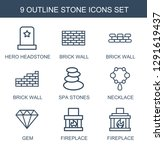 9 stone icons. trendy stone... | Shutterstock .eps vector #1291619437
