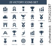 25 victory icons. trendy... | Shutterstock .eps vector #1291622287