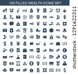 100 wealth icons. trendy wealth ... | Shutterstock .eps vector #1291622311