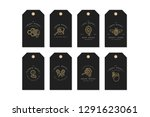 vector set illustartion logos... | Shutterstock .eps vector #1291623061