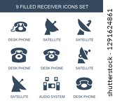 receiver icons. trendy 9... | Shutterstock .eps vector #1291624861