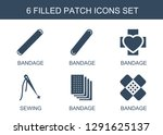 patch icons. trendy 6 patch... | Shutterstock .eps vector #1291625137