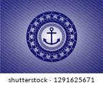anchor icon inside jean or... | Shutterstock .eps vector #1291625671