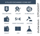 exchange icons. trendy 9... | Shutterstock .eps vector #1291626337