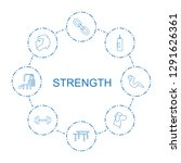 strength icons. trendy 8... | Shutterstock .eps vector #1291626361
