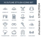 stylish icons. trendy 16... | Shutterstock .eps vector #1291629004