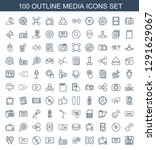 media icons. trendy 100 media... | Shutterstock .eps vector #1291629067