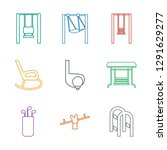 swing icons. trendy 9 swing... | Shutterstock .eps vector #1291629277