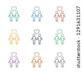gay couple icon white... | Shutterstock .eps vector #1291631107