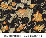 seamless pattern with stylized... | Shutterstock .eps vector #1291636441