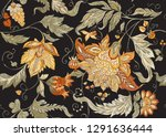 seamless pattern with stylized... | Shutterstock .eps vector #1291636444