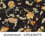 seamless pattern with stylized... | Shutterstock .eps vector #1291636474