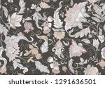 seamless pattern with stylized... | Shutterstock .eps vector #1291636501